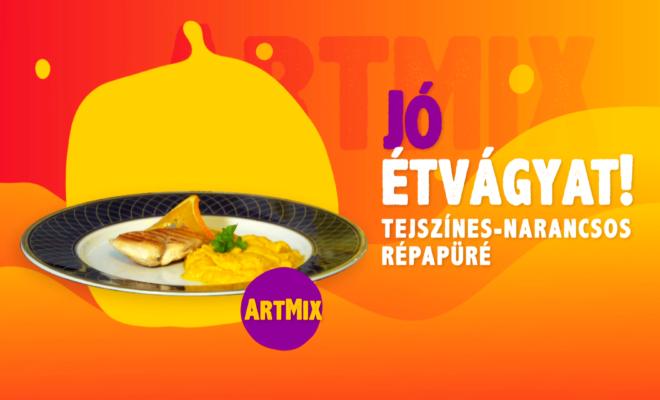 Tejszínes-narancsos répapüré ArtMix-szel