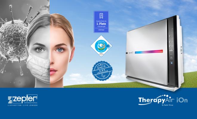 A Therapy Air Ion légtisztító igazoltan alkalmas a baktériumok és vírusok kiszűrésére, beleértve a COVID-19 koronavírust.