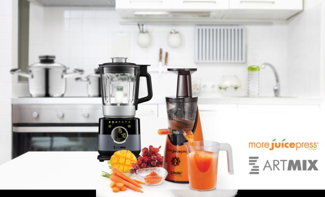 ArtMix robotgép és More Juice Press gyümölcsprés