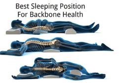 Megfelelő alvási pozíció a gerinc egészségének megőrzéséhez.