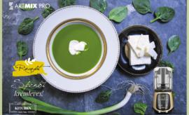 Feta sajtos spenót krémleves az ArtMix Pro-val