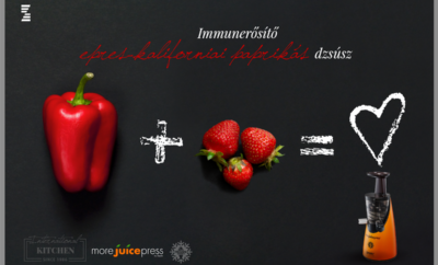 Immunerősítő eper-paprika dzsúsz - More Juice Press