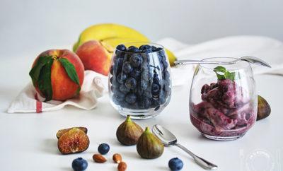 Őszibarack szorbé és áfonya jégkrém a More Juice Press Frozen-nel 7
